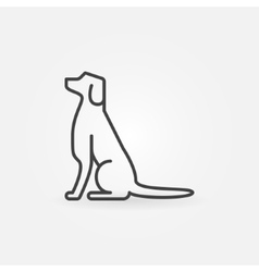 Dog line icon vector image vector image