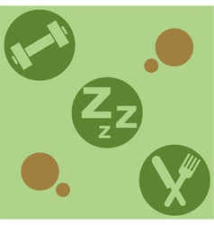 Healthy living vector image vector image