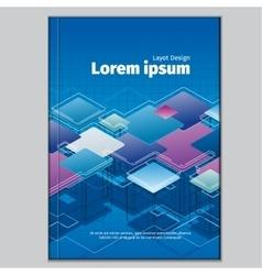Modern abstract brochure book or flyer design vector