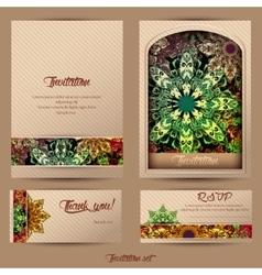 Vintage cards mandala 2 vector image vector image