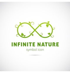Infinite Nature Concept Symbol Icon or Logo vector image vector image