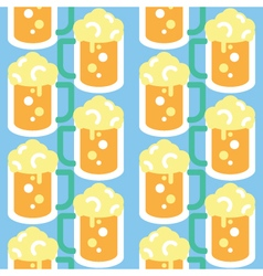 Seamless Beer Glass Pattern Icon vector image vector image
