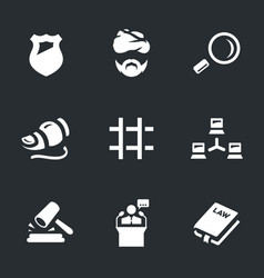set of internet security icons vector image