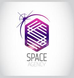 space agency purple logo vector image vector image