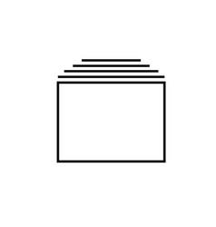 tabs icon vector image vector image