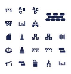 22 block icons vector