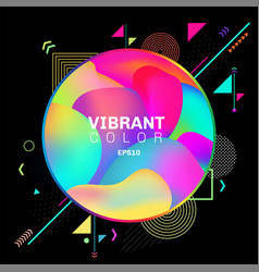 Abstract colorful geometric pattern design vector