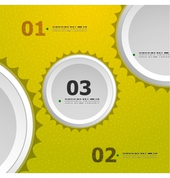 Abstract steps circles template vector