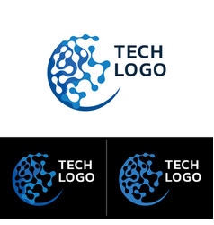 abstract technology logo vector image