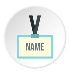 Badge employee icon flat style vector image