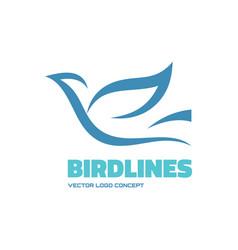 Bird lines - logo template concept vector