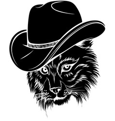 black silhouette wild cat lynx bobcat trot vector image
