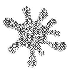 Blot mosaic of x generation boy icons vector