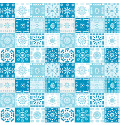 Blue background with ethnic motifs vector