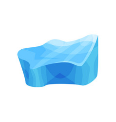 blue piece of ice cold frozen block vector image