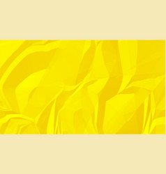 Bright yellow crumpled wrinked paper texture vector