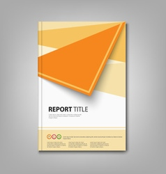 Brochures book or flyer with orange abstract vector image