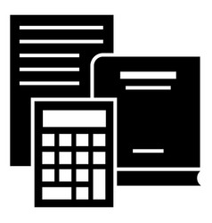 budget calculator icon simple style vector image