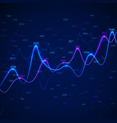 business diagrams and charts on blue background vector image