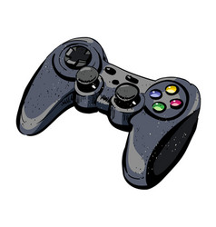 Cartoon image of joystick vector