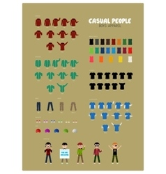 Casual People Part 2 vector image
