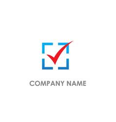 check list square quote logo vector image