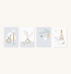christmas scandinavian greeting card invitation vector image