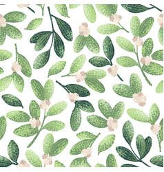 chrstmas mistletoe pattern vector image