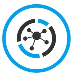 Connections Diagram Rounded Icon vector