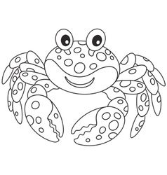 Crab with spots vector