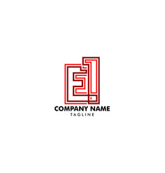 e1 logo combination letters and numbers vector image