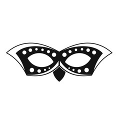 event mask icon simple style vector image