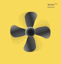 fan icon ventilator blower propeller symbol vector image