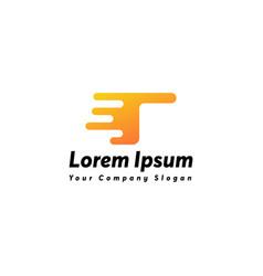 Fast letter t logo icon design vector