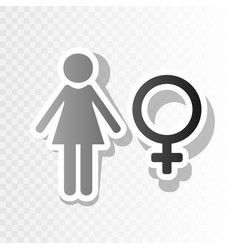 female sign new year vector image