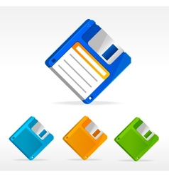 Floppy disk icons retro vector image