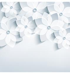 Floral lace background 3d flower vector