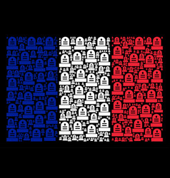 France flag pattern of grave icons vector