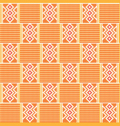 Geometric african print cloth kente seamless vector