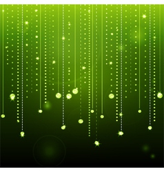 glowing green diamond background vector image