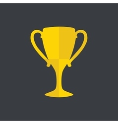 Gold winner cup vector image