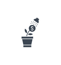 growth income related glyph icon vector image