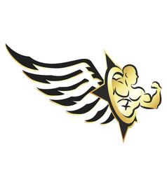 Gym symbol of athlete vector