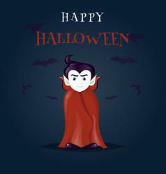 halloween dracula vampire costume cartoon vector image