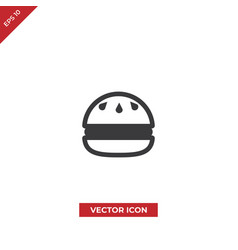hamburger sesame seeds icon vector image