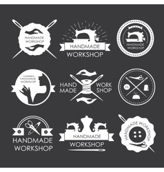 Handmade workshop logo vintage se vector