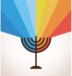 Happy hanukkah vector