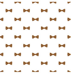 hipster bow pattern seamless vector image
