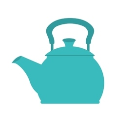 icon teapot hot kitchen utensil isolated vector image