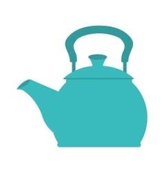 icon teapot hot kitchen utensil isolated vector image